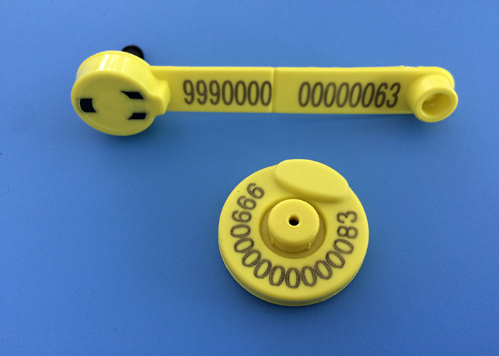 134.2khz Sheep Ear Tags For Electronic Identification Tracking , TPU Material