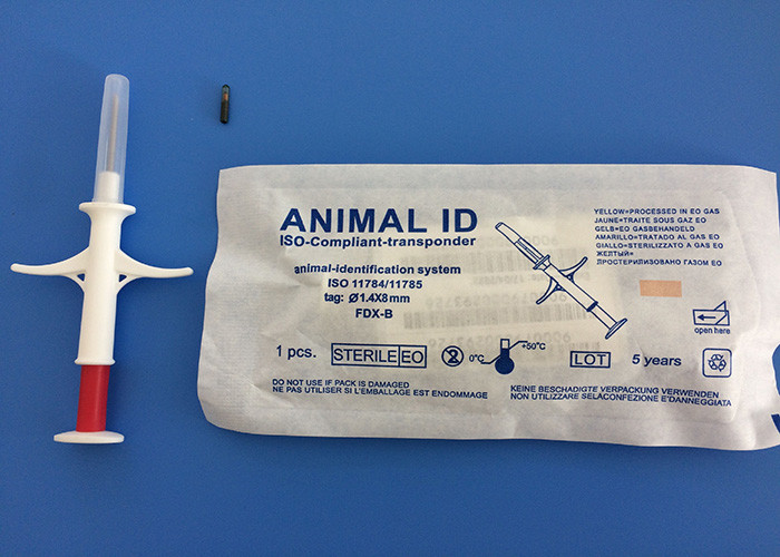 RFID Search Dog Microchip With Syringe , Pet ID Microchip ICAR Approved